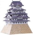 7 Himeji Castle Paper Model Mini