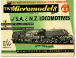 C I African & New Zealand Railways Micromodels