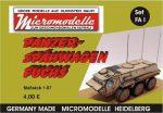 FA 1 Panzer Spähwagen Fuchs Micromodelle Heidelberg