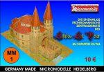 MM 1 Zentralkirche des Stiftes St. Peter zu Wimpfen im Tal Micromodelle Heidelberg
