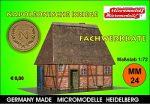 MM 24 Napolonische Kriege Fachwerkkate Micromodelle Heidelberg