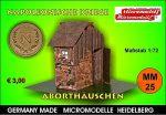 MM 25 Napolonische Kriege Aborthäuschen Micromodelle Heidelberg