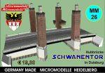 MM 26 Hubbrücke Schwanentor Duisburg Micromodelle Heidelberg