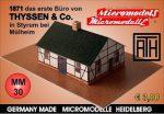 MM 30 1871 das erste Büro von THYSSEN & Co. in Styrum Micromodelle Heidelberg