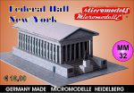 MM 32 Federal Hall New York Micromodelle Heidelberg