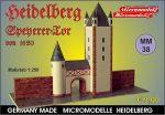 MM 38 Speyerer Tor von 1620 Heidelberg Micromodelle Heidelberg