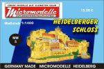 MM 5 Heidelberger Schloss Micromodelle Heidelberg