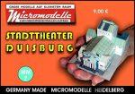 MM 7 Stadttheater Duisburg Micromodelle Heidelberg