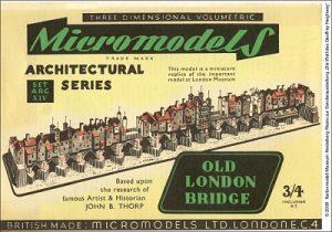 Old London Bridge Micromodelle Heidelberg