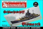 SE 3 Schlachtschiff Bismarck Micromodelle Heidelberg