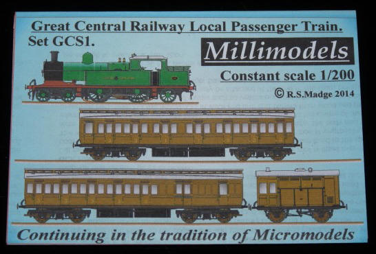 Millimodels GWS3 set Great Western 45xx 2-6-2T and goods train 1//200 scale