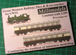 GWS2 Great Western Railway 54xx & B set coaches Millimodels