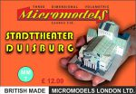 MM 07 Stadttheater Duisburg Micromodels London