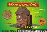 MM 25 Napoleonic Wars Lavatory Micromodels London