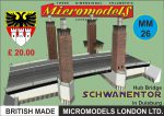 MM 26 Hub Bridge Schwanentor Duisburg Micromodels London