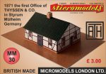 MM 30 1871 the first Office of Thijssen & co in Styrum Micromodels London