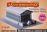 MM 32 Federal Hall New York Micromodels London