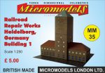 MM 35 Railroad Repair Works Heidelberg Micromodels London