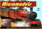 PG IX Famous Movie Train Olton Hall MicromodelsUSA