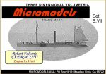 S VII Steamboat Clermont MicromodelsUSA