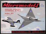 AV III Canberra & Avro 707B Micromodels
