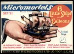 S I Six Little Ships and Galleons 3.0 Micromodels
