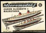 S IX Queen Elisabeth & Mauretania Micromodels