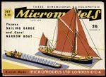S XI Sailing Barge Micromodels