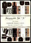 X LNER Corridor Coach x 12 Micromodels