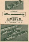 Micromodels catalogue 1 1947 front
