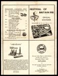 Micromodels catalogue Festival of Britain 1951 back