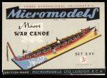 S XV Maori War Canoe Micromodels