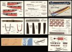 S XV Maori War Canoe cards Micromodels