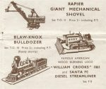 TO III Blaw-Knox Bulldozer Micromodels