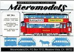 TR I Trams MicromodelsUSA