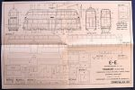 Modern Double Deck Tramcar Plan back Modelcraft