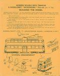 Modern Double Deck Tramcar back Modelcraft