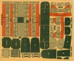 Modern Double Deck Tramcar red Modelcraft