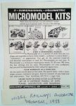 ad Micromodel Kits 1958 Broadway Approvals