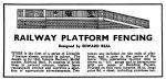 1946 Railway Platform Fencing Modelcraft ad