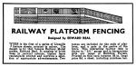 Advertisement Railway Platform Fencing Modelcraft 1946