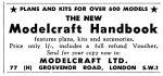 August 1954 Modelcraft Handbook ad