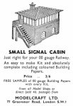 march 1958 Small Signal Cabin Modelcraft ad